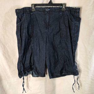 Lane Bryant Plus Size 26 Capri Pants Blue 1072